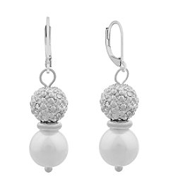 Gloria Vanderbilt™ Pearl Linear Drop Earrings