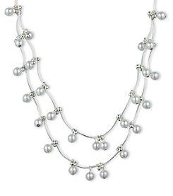 Gloria Vanderbilt™ Pearl Two Strand Necklace