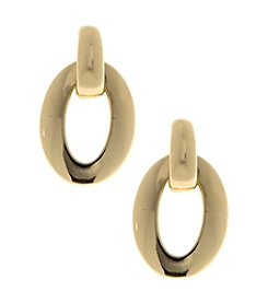 Gloria Vanderbilt™ Open Oval Drop Earrings