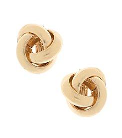 Gloria Vanderbilt™ Goldtone Love Knot Clip Earrings