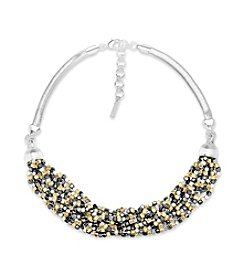 Nine West® Multi Row Frontal Necklace