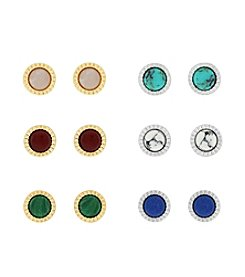 Jessica Simpson Six Pack of Circle Stud Earrings