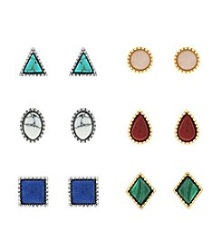 Jessica Simpson Six Pack of Stud Earrings