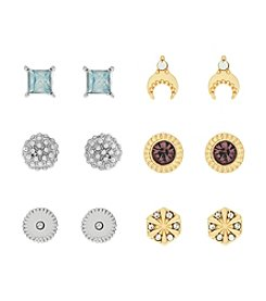Jessica Simpson Six Pack of Girly Stud Earrings