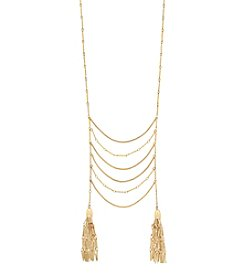 Jessica Simpson Layered Tassel Ladder Necklace