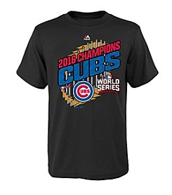 Majestic MLB® Chicago Cubs Kids' World Series Parade Short Sleeve Tee