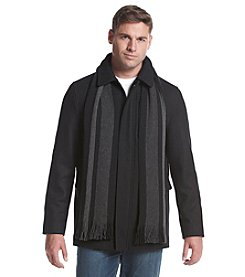 Calvin Klein Men's Big & Tall Wool Coat With Scarf