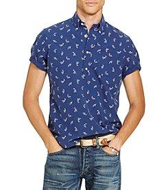 Polo Ralph Lauren® Men's Shark Print Short Sleeve Button Down Shirt