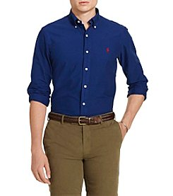 Polo Ralph Lauren® Men's Solid Long Sleeve Button Down Sportshirt
