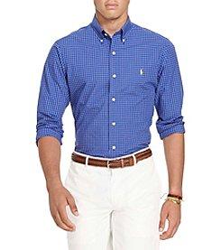 Polo Ralph Lauren® Men's Crisp Poplin Long Sleeve Small Check Button Down Shirt