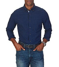 Nautica® Men's Long Sleeve Small Tonal Check Button Down Shirt