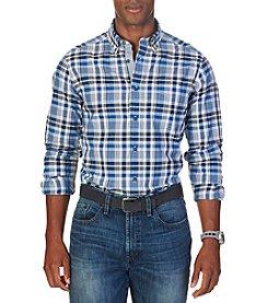 Nautica® Men's Long Sleeve Medium Plaid Button Down Shirt