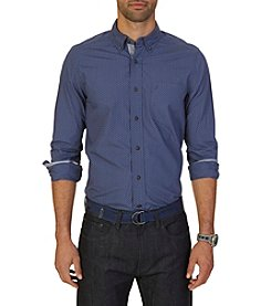 Nautica® Men's Long Sleeve Dot Print Button Down Shirt