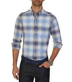 Nautica® Men's Long Sleeve Large Plaid Button Down Shirt