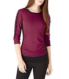 A. Byer Lace Shoulder Sweater