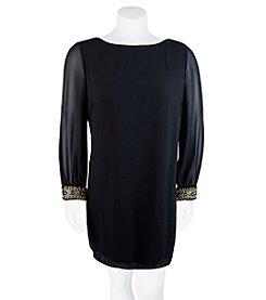 A. Byer Plus Size Open Sleeve Dress