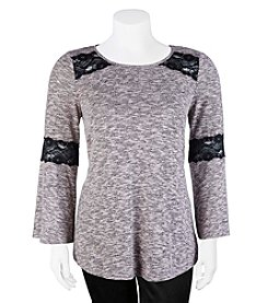 A. Byer Plus Size Trapeze Lace Top