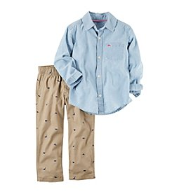 Carter's® Boys' 2T-4T 2-Piece Chambray Woven Top and Pant Set