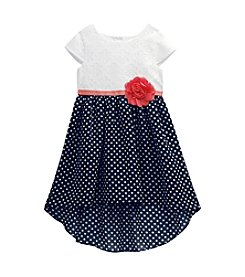 Sweet Heart Rose® Girls' 4-6X High-Low Cap Sleeve Dress
