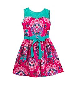 Rare Editions® Girls' 4-6X Daisy Printed Dress