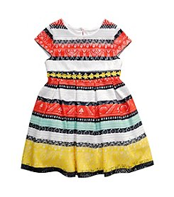 Sweet Heart Rose® Girls' 2T-6X Striped Dress With Ribbon