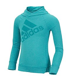 adidas® Girls' 2T-6X Simply Striped Long Sleeve Hoodie