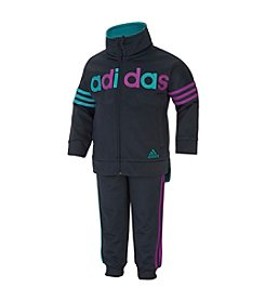 adidas® Girls' 2T-6X 2-Piece Joggers and Tricot Jacket Set