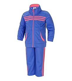 adidas® Girls' 2T-6X 2-Piece Tricot Jacket Set