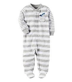 Carter's® Baby Boys Striped Shark Butt Footie