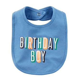 Carter's® Baby Boys' Birthday Boy Bib