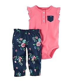 Carter's® Baby Girls' 2-Piece Floral Bodysuit Set