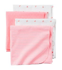 Carter's® Baby Girls' 4-Pack Printed Floral Blankets