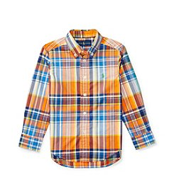 Polo Ralph Lauren® Boys' 2T-7 Plaid Long Sleeve Button-Down Shirt