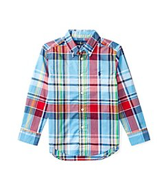Polo Ralph Lauren® Boys' 2T-7 Plaid Long Sleeve Shirt