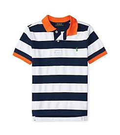Polo Ralph Lauren® Boys' 2T-7 Striped Cotton Mesh Shirt