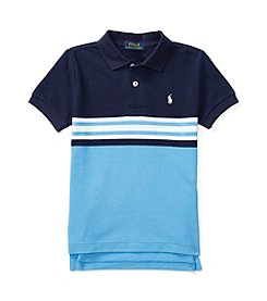 Polo Ralph Lauren® Boys' 2T-7 Cotton Mesh Short Sleeve Shirt