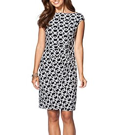 Chaps® Chain Print Sheath Dress