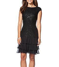 Chaps® Matisse Sequin Lace Dress