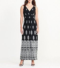 Chaps® Variel Border Maxi Dress