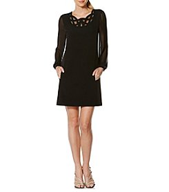 Laundry by Shelli Segal® Scroll Neckline Shift Dress