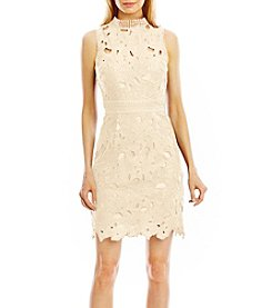 Nicole Miller New York® High Neck Lace Dress