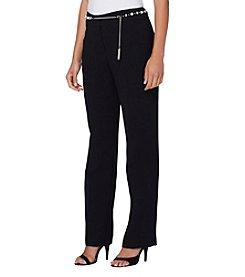 Tahari ASL® Crepe Texture Chain Pants