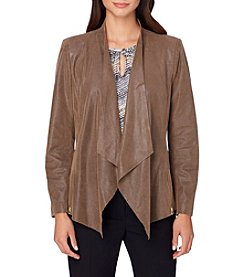 Tahari® Faux Suede Open Jacket