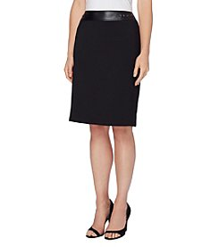 Tahari® Trim Ponte Skirt