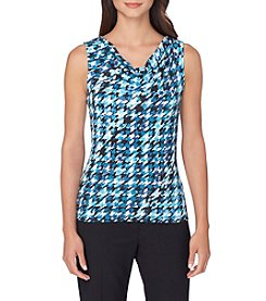Tahari ASL® Herringbone Knit Tank