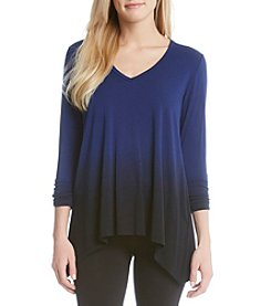 Karen Kane® Ruched Ombre Tee