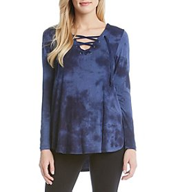 Karen Kane® Lace Up Top