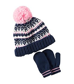 Carter's® Girls' Knit Hat and Glove Set
