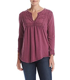 Lucky Brand® Lace Placket Top