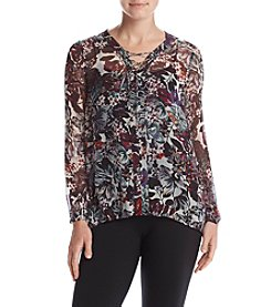 Lucky Brand® Floral Peasant Top